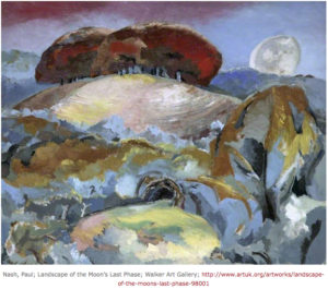 Paul Nash, Landscape of the moon, 1944, source: