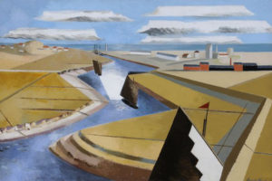 Paul Nash, Rye Marshes, 1932, source: