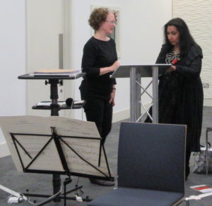 2Composer Evelyn Ficarra and reader Imtaz Dhaker